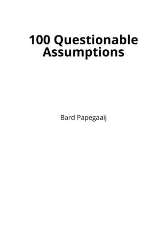 100 Questionable Assumptions