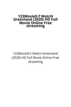 123Movie$.!! WatcH Greenland (2020) HD Full Movie Online Free streaming