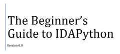 The Beginner's Guide to IDAPython