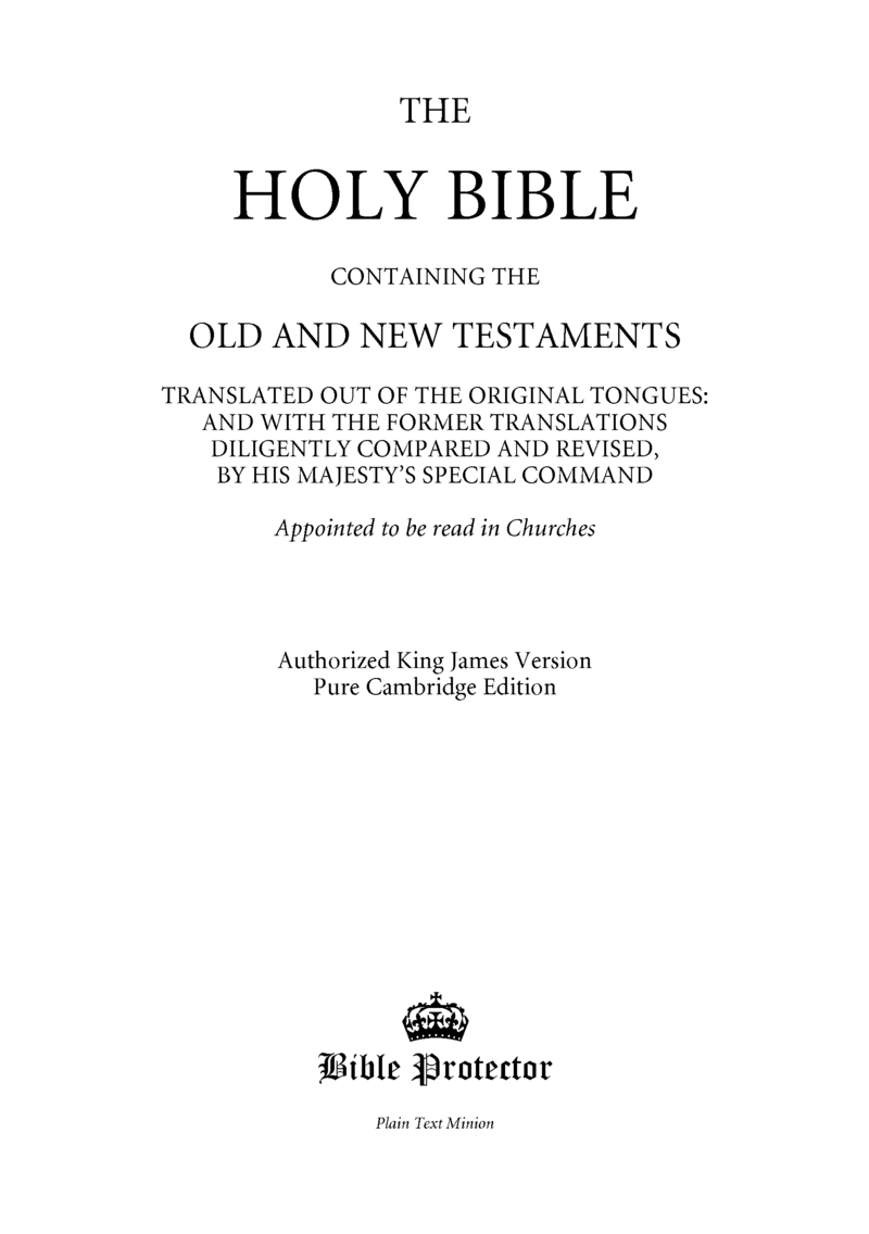 THE HOLY BIBLE by God [Leanpub PDF/iPad/Kindle]