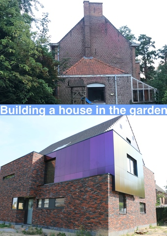 Building a house in the garden