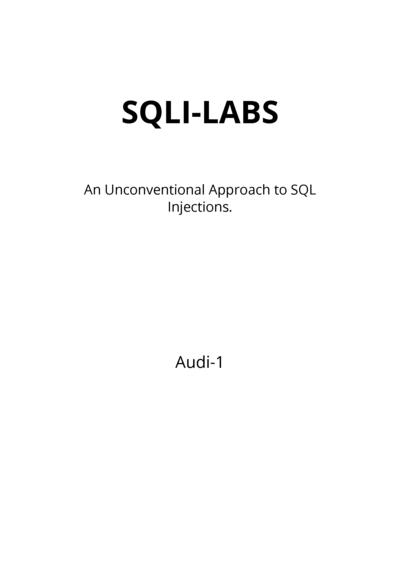 SQLI-LABS