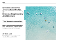 SEA: Systems Enterprise/Engineering Architecture