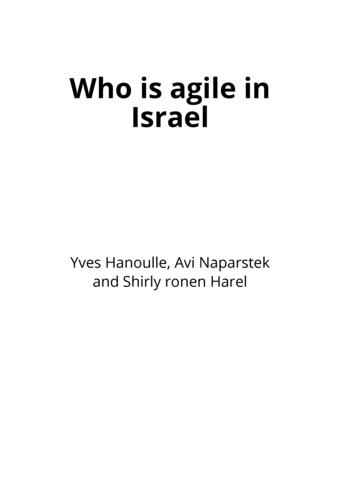 Who is agile in Israel
