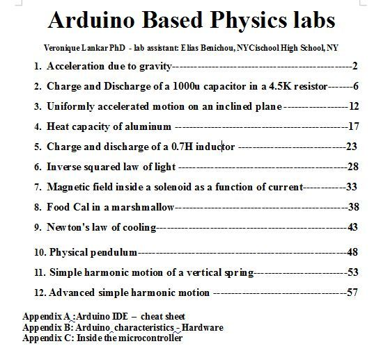 Arduino based physics… by Dr  Veronique Lankar [PDF/iPad/Kindle]