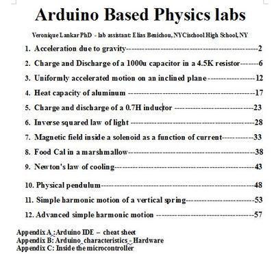 Arduino based physics labs