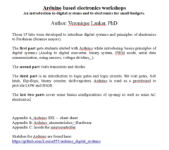 Arduino based electronics workshops (labs)   An introduction to electronics for small budgets.