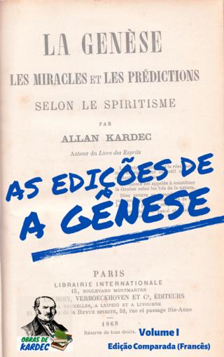 As edições de A Gênese - Volume I: Edição Comparada (Francês)