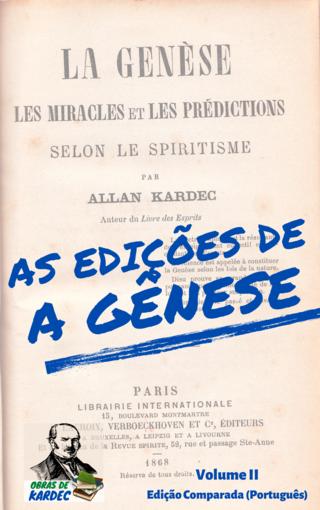 As edições de A Gênese - Volume II: Edição Comparada (Português)