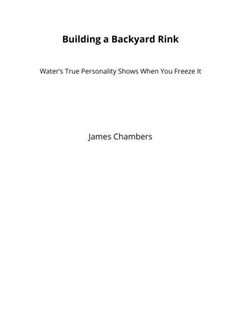 Building a Backyard Rink