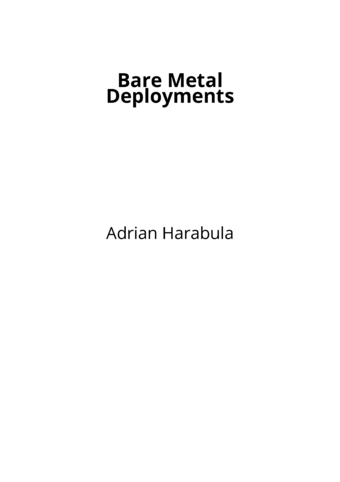 Bare Metal Deployments