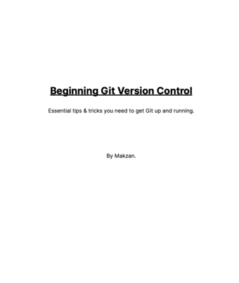 Beginning Git Version Control