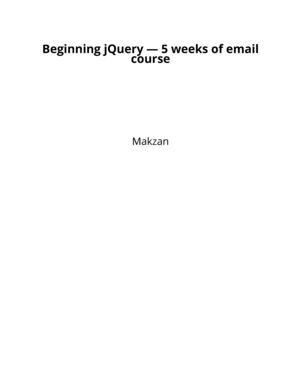 Beginning jQuery — 5 weeks of email course