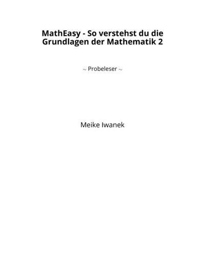MathEasy - So verstehst du die Grundlagen der Mathematik 2