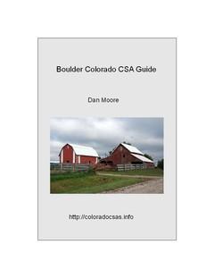 Boulder Colorado CSA Guide