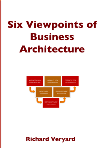 Six Viewpoints of Business Architecture