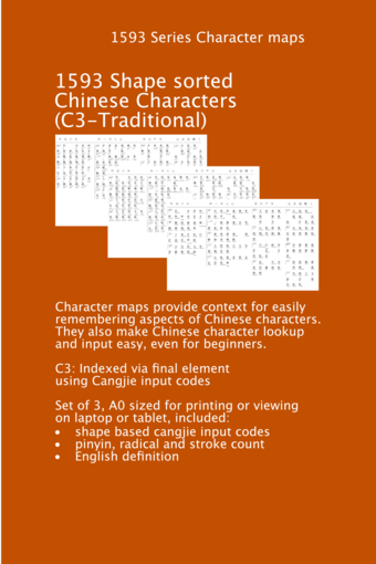 C3 Character Map for Traditional Chinese Symbols