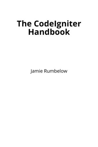 The CodeIgniter Handbook