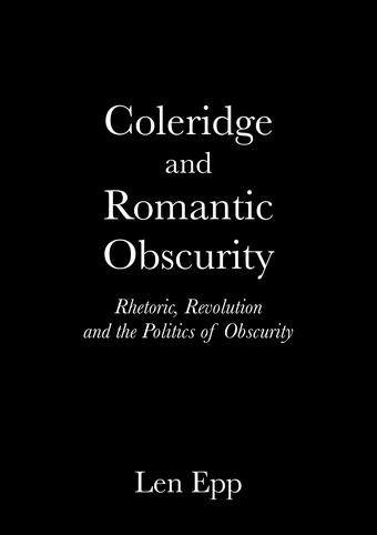 Coleridge and Romantic Obscurity