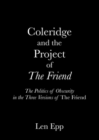 Coleridge and the Project of The Friend