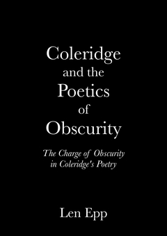 Coleridge and the Poetics of Obscurity