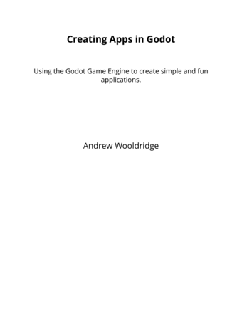 Creating Apps in Godot