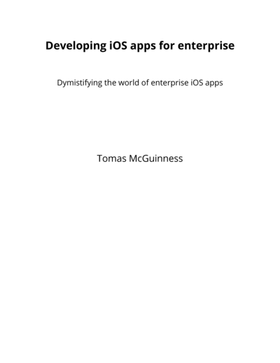 Developing and selling iOS apps for enterprise