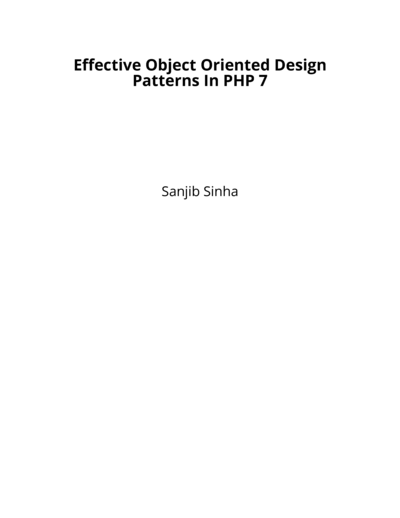 Effective Object Oriented Design Patterns In PHP 7