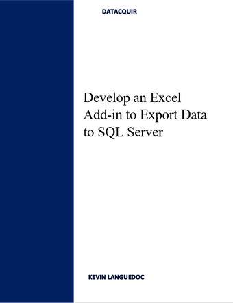 How to Develop an Excel Add-in to Export Data to SQL Server