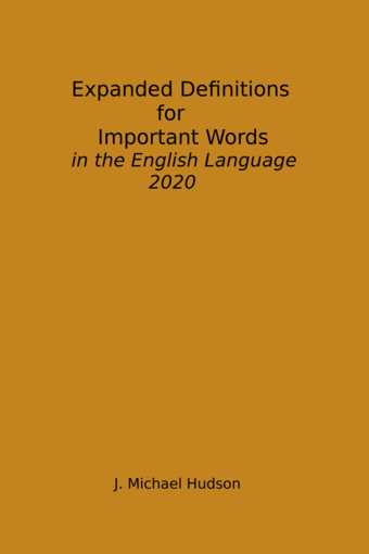 Expanded Definitions for Important Words