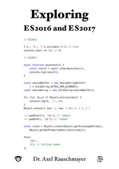 Exploring ES2016 and ES2017