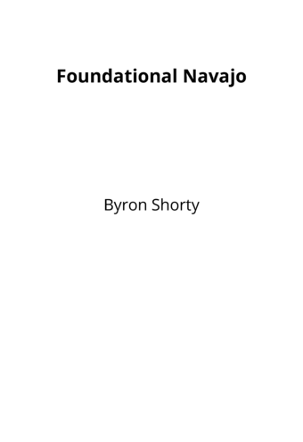 Foundational Navajo