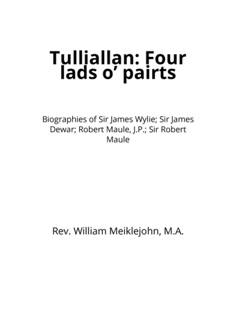 Tulliallan: Four lads o' pairts