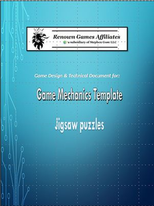 Game Template Mechanics for ActionScript JigSaw Puzzles