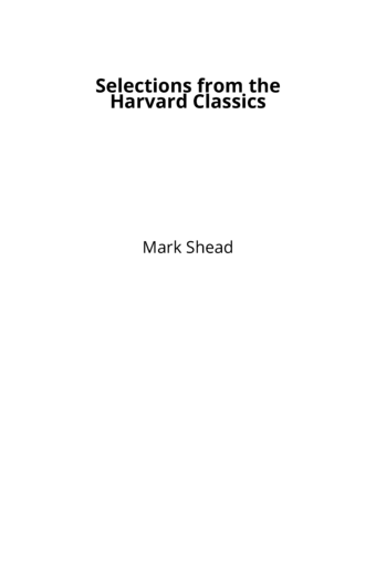 Selections from the Harvard Classics
