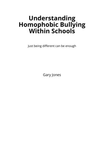 Understanding Homophobic Bullying Within Schools