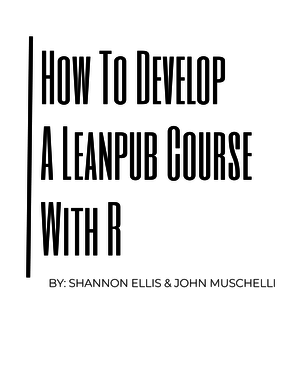 How To Develop A Leanpub Course With R