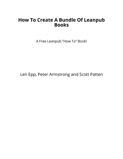 How To Create A Bundle Of Leanpub Books