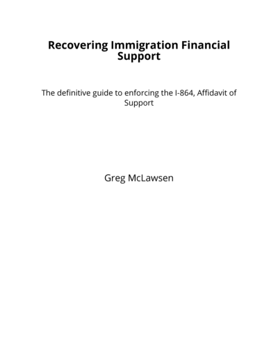 Recovering Immigration Financial Support