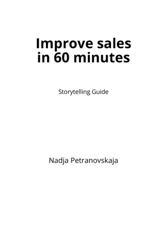 Improve sales in 60 minutes