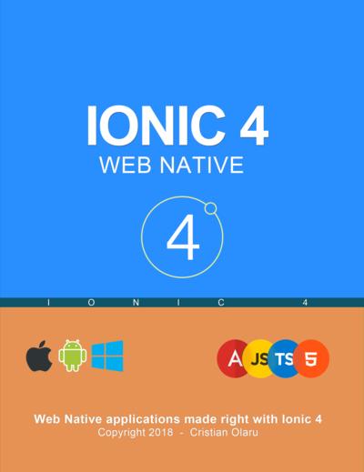 IONIC 4 - Web Native