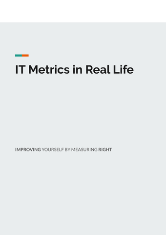 IT Metrics in Real Life