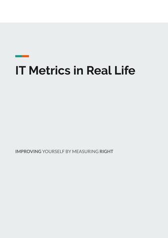 IT Metrics in Real Life