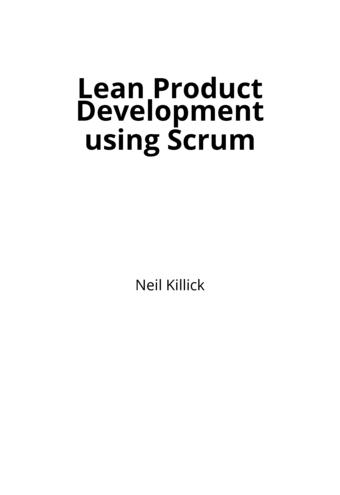 Lean Product Development using Scrum