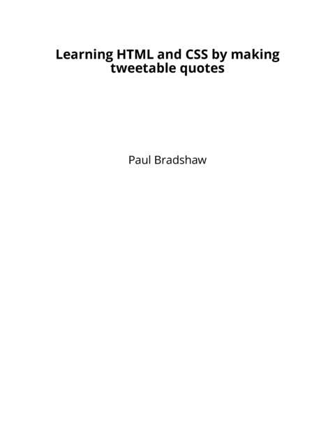 Finding Stories in… by Paul Bradshaw [Leanpub PDF/iPad/Kindle]