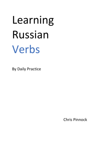 Learning Russian Verbs by Daily Practice
