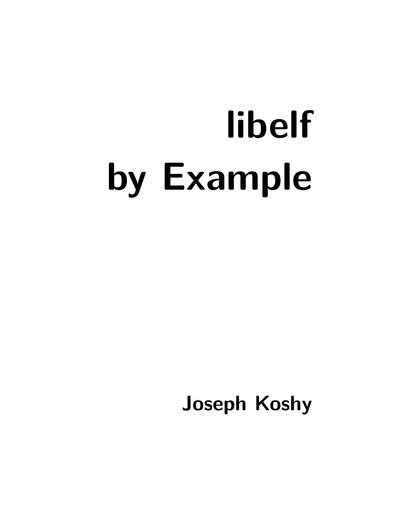 Libelf by Example