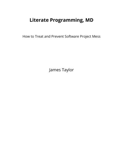 Literate Programming, MD