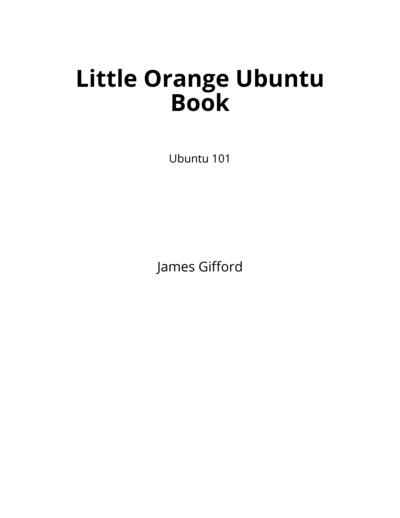 Little Orange Ubuntu Book