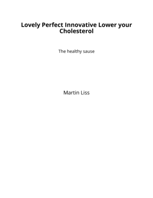 Lovely Perfect Innovative Lower your Cholesterol